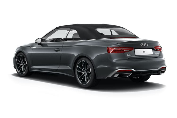 Audi A5 45 Cabriolet quattro 2Dr 2.0 TFSI 245PS S line 2Dr S Tronic [Start Stop] [Technology] back view